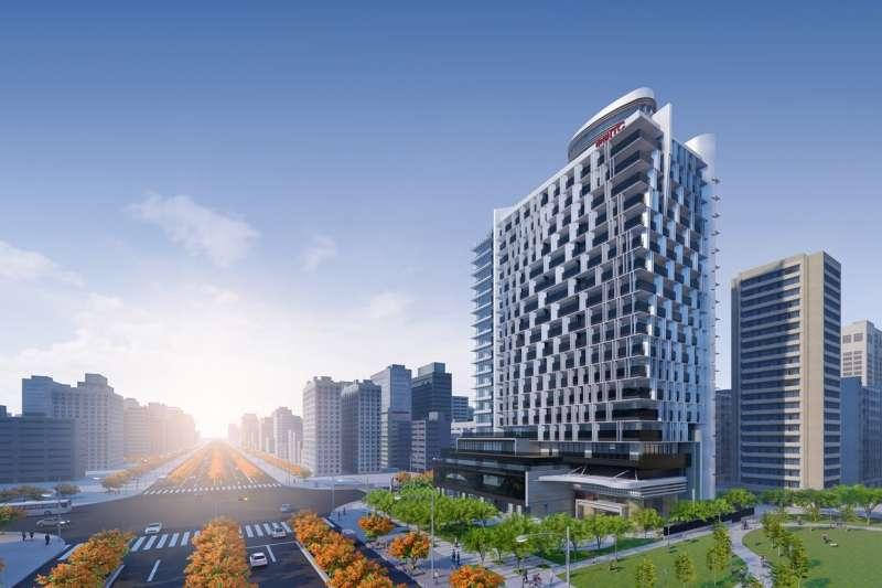 「中悦ITC」佔地約達1300坪,拔高80米、規劃65坪-520坪。(圖/富比士地產王提供)