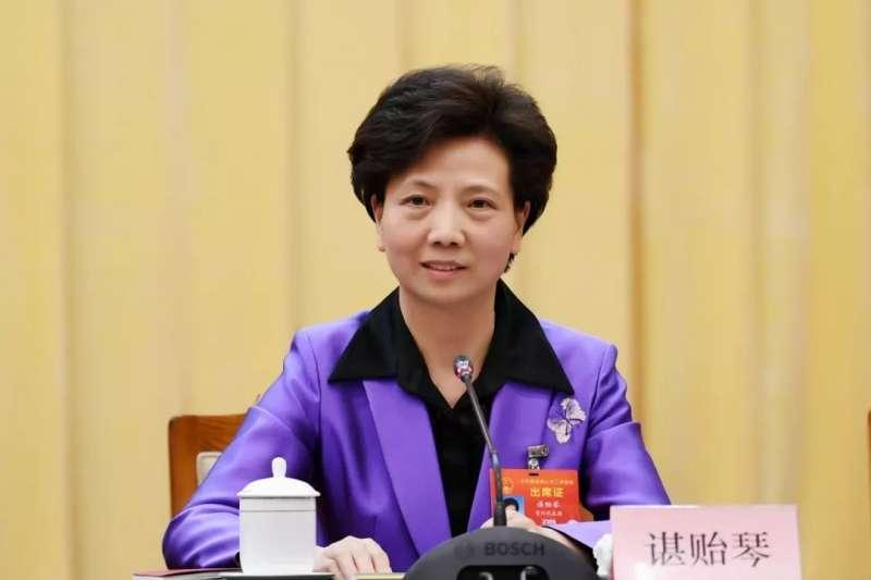 中國貴州省新任省委書記諶貽琴(取自網路)