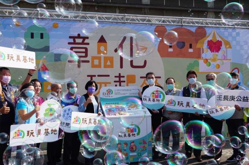 台塑企業今(11/21)日在台化彰化廠福利大樓舉辦《彰化玩起來-二手玩具wow市集》。(台塑企業提供)