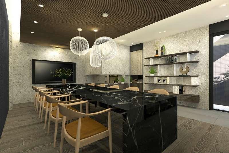 「基創御山」打造戶戶私人會館,可依住戶需求自行定義空間,此為基創建設展示之私人會館打造VIP室3D示意圖。(圖/富比士地產王提供)