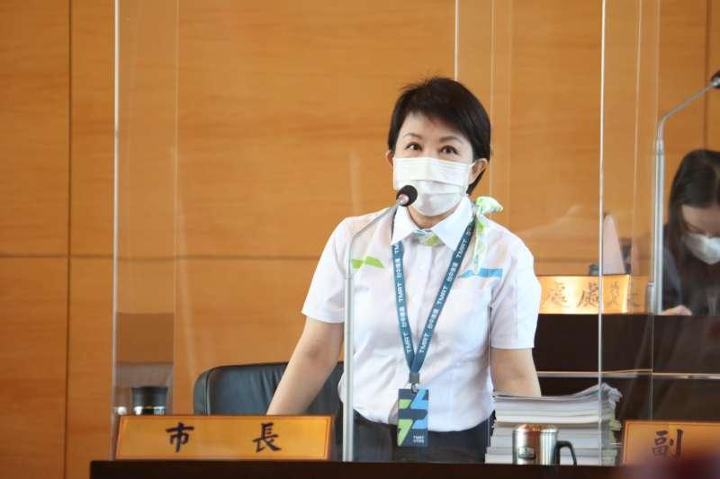 議員關切中捷列摻安全問題,盧秀燕市長答詢說明目前處理概況。(圖/台中市政府提供)