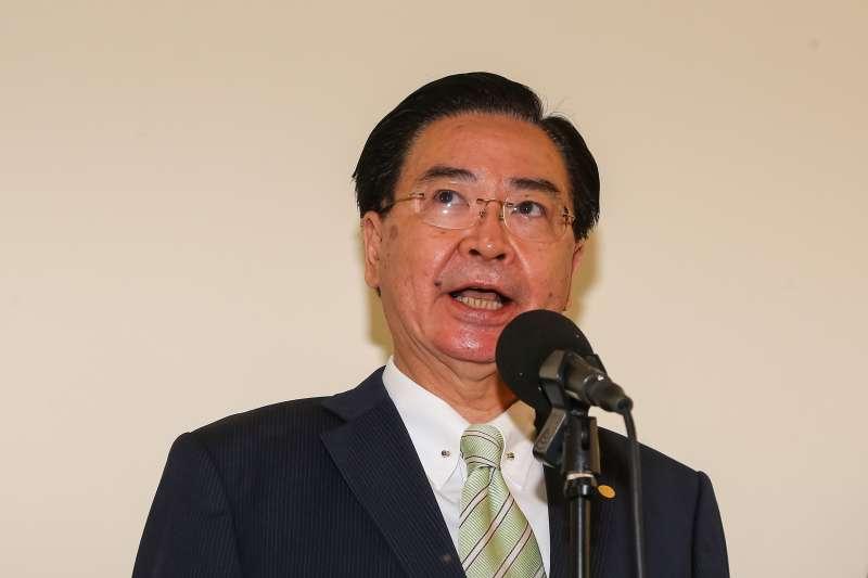 20201125-外交部長吳釗燮25日於立院接受媒體聯訪。(顏麟宇攝)