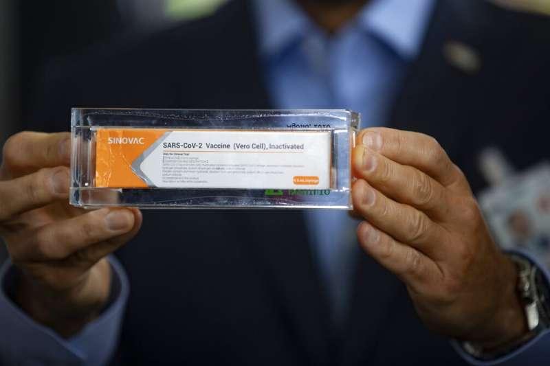 中國科興生物(Sinovac Biotech)研發的CoronaVac疫苗。(美聯社)