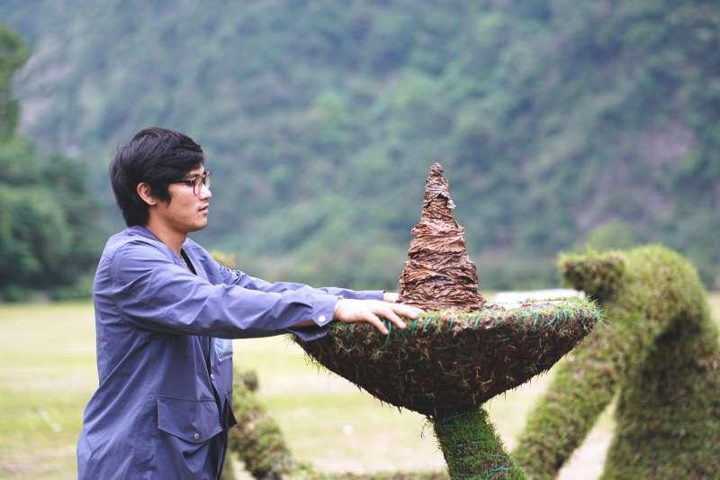 駐村藝術家 黃林育麟   作品名稱 Qopu 祭杯。(圖/原文會提供)