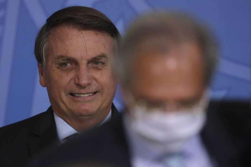 巴西總統博索納羅。(AP)