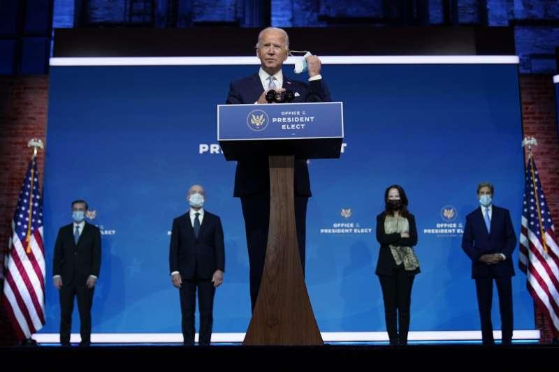 2020年11月24日,美國總統當選人拜登介紹其外交國安團隊(AP)