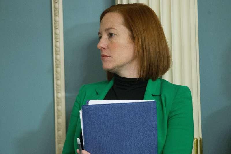 拜登就任美國總統不到一週,白宮發言人莎琪就在白宮記者會中提出,美國應對中國的「戰略耐心」策略。(AP)