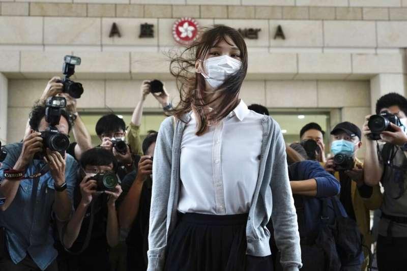 前香港眾志成員周庭12月2日遭判監禁10個月。(AP)