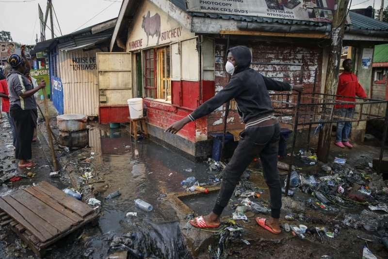 2020年3月,東非肯亞豪雨成災(AP)