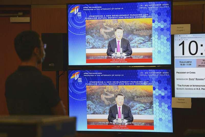 習近平在APEC高峰會上表態,中國有意加入CPTPP。(美聯社)