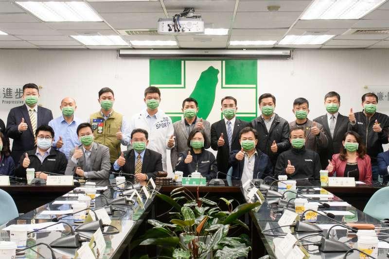 民進黨全國主委第2次會議3日在黨中央召開例行會議,總統蔡英文(見圖)也親自出席。(讀者提供)
