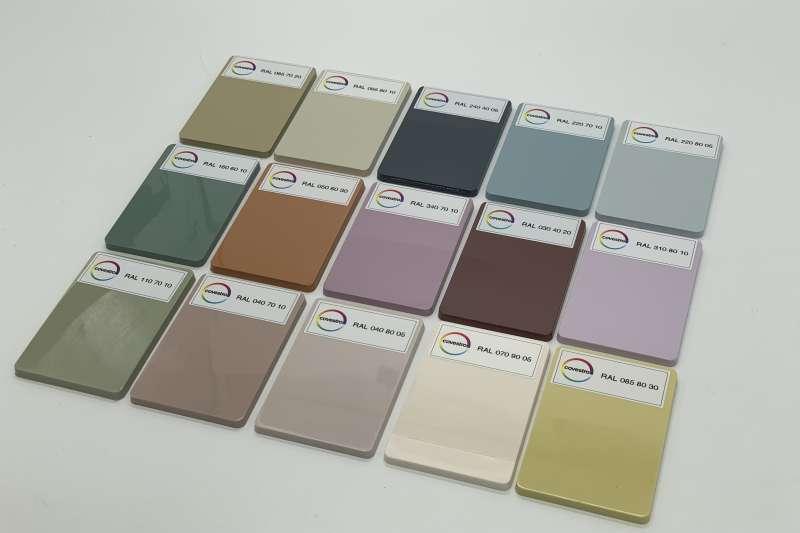 科思創攜手勞爾(RAL)色彩,採用聚碳酸酯呈現趨勢色板(科思創提供)