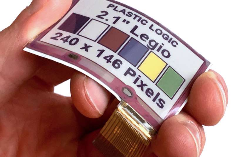 E Ink元太科技與Plastic Logic推出首款軟性全彩電子紙,拓展全彩電子紙於穿戴式領域的應用。(元太科技提供)
