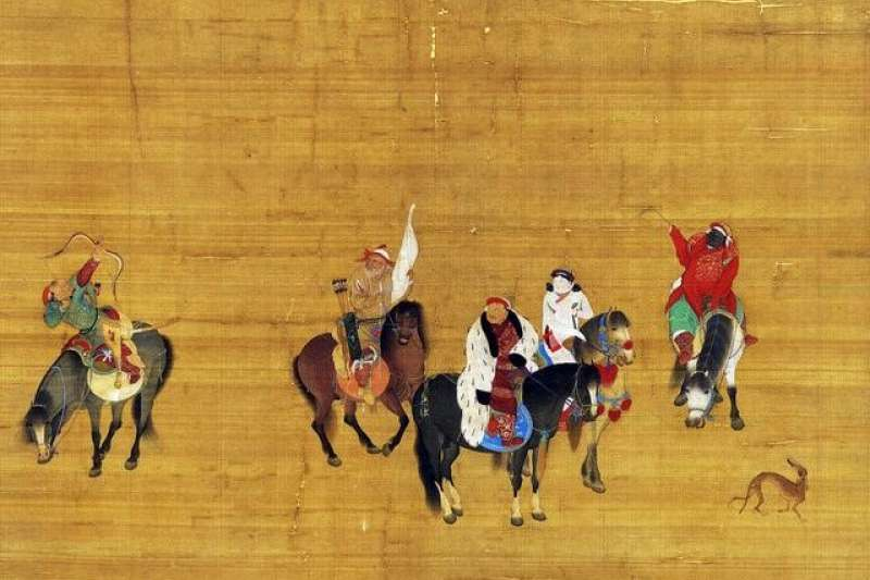 圖1〈元世祖出獵圖〉台北故宮博物院藏。