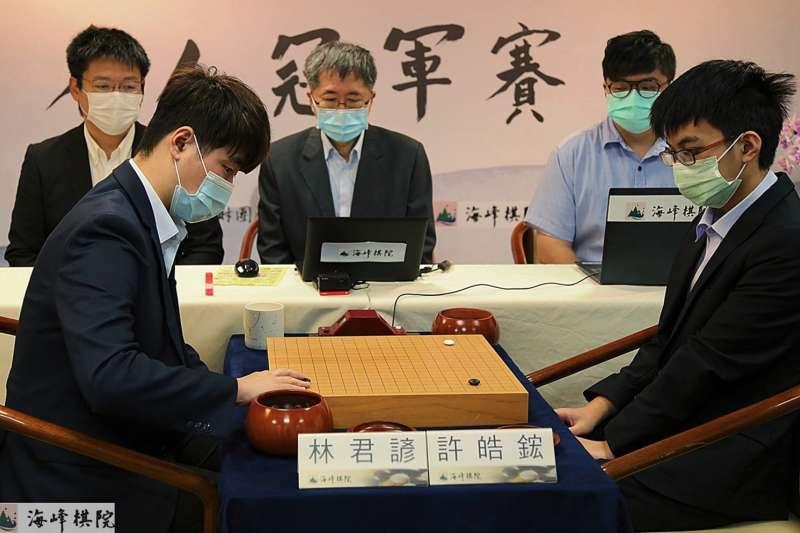 「第一屆名人冠軍賽」是林君諺今年得來不易的「首冠」。(海峰棋院)