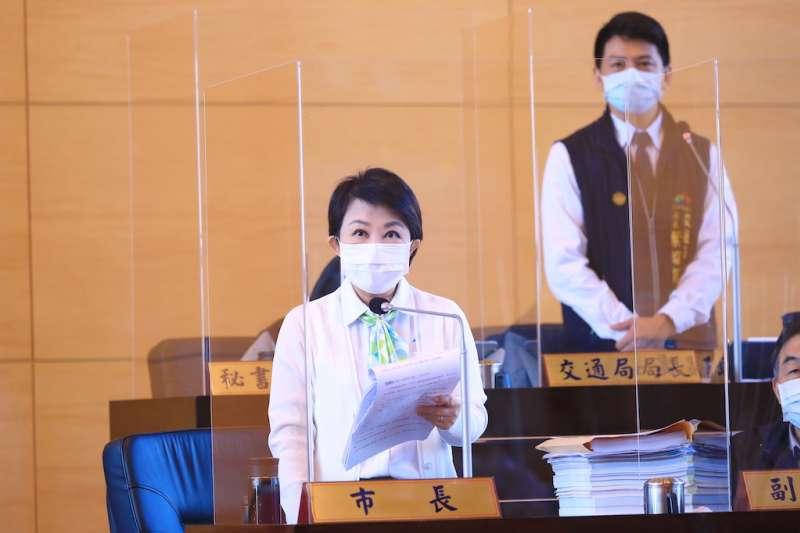 台中市長盧秀燕針對議員關切的中捷復駛期程提出說明。(圖/台中市政府提供)