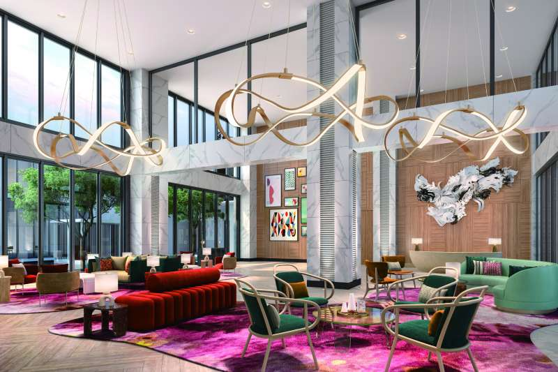 「允將大作」特別重金禮聘國際Top10飯店設計團隊「WIMBERLY」設計社區會館空間。(圖/允將大作提供)
