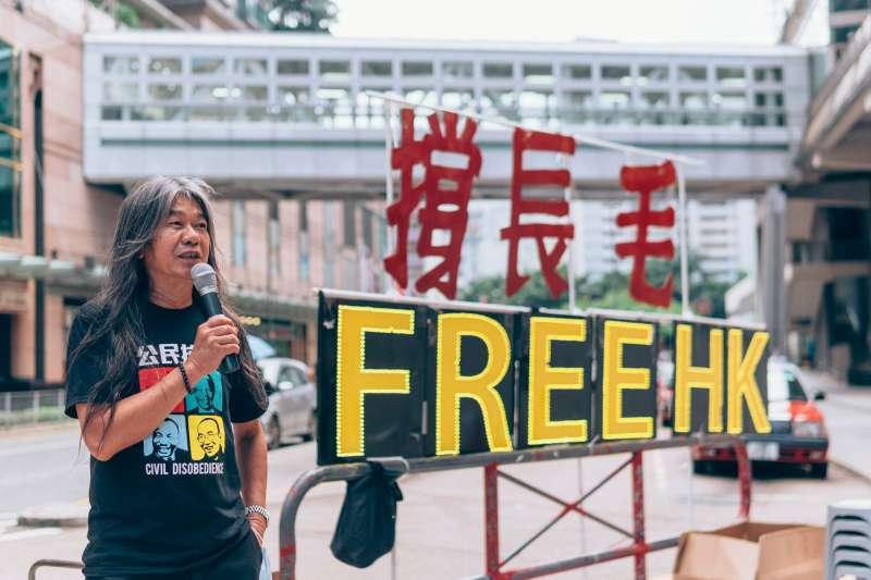 香港立法會前議員梁國雄。(翻攝臉書)