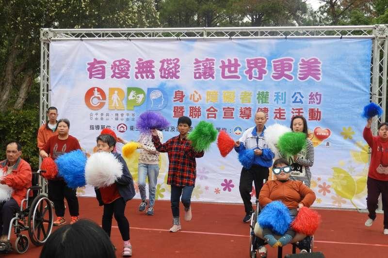 108年身心障礙者權利公約活動表演。(圖/金門縣社會處)