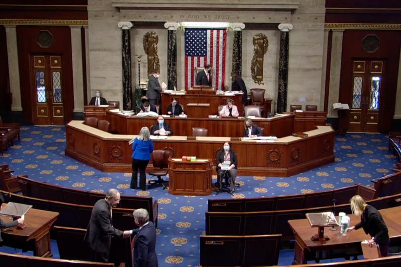 美國國會眾議院2020年12月7日一致通過《香港人民自由與選擇法》。(翻攝網路)