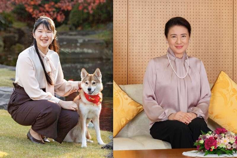 日本皇室第一家庭的母女檔:雅子皇后與愛子內親王。(美聯社)