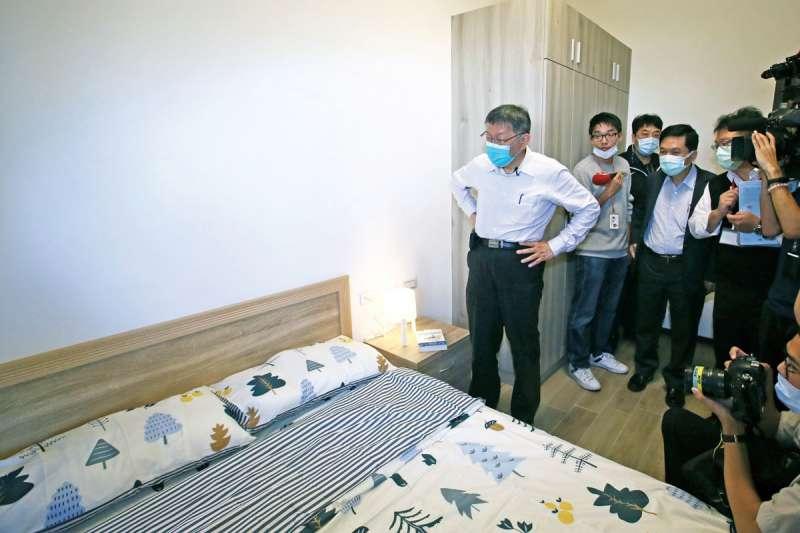 柯文哲因明倫社宅的高租金受到各界的強烈批評。(柯承惠攝)