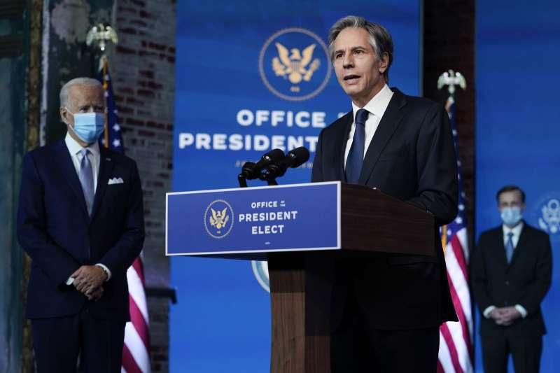 美國新任國務卿布林肯對華政策,總體上傾向對中國「持續威懾」。(美聯社)