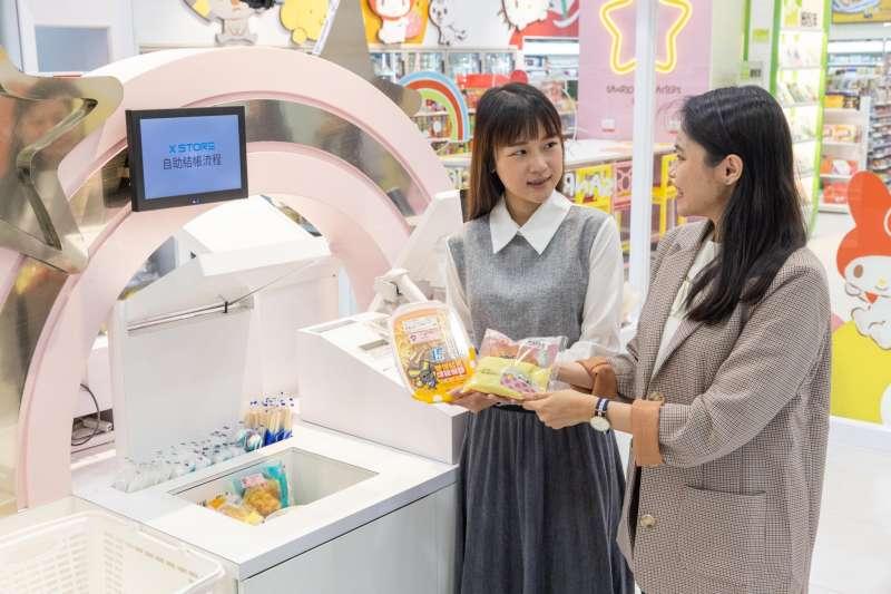 台灣第一家採RFID(無線射頻標籤)感應結帳系統的統一超商X-STORE未來商店,週六(12)將於台中開始營運,由永豐餘投控旗下永道射頻技術支援標籤與周邊軟體設施。(永豐餘提供)