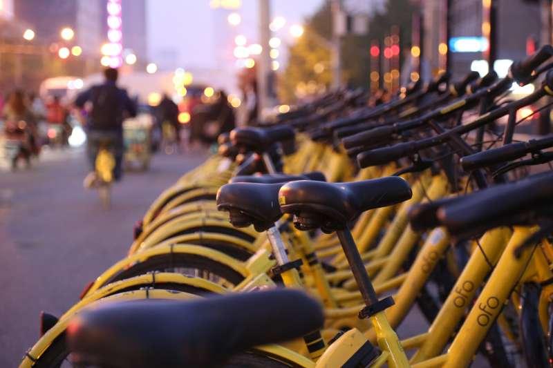 中國共享單車「ofo小黃車」。(圖/取自flickr)