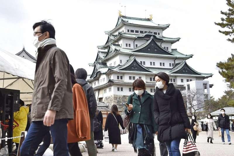 新冠疫情之下的日本名古屋。(美聯社)