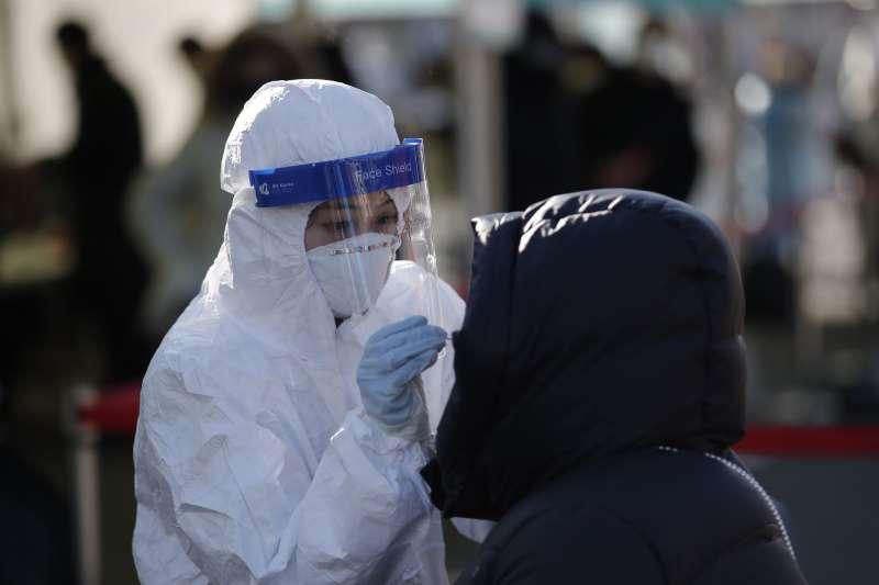 2020年12月,新冠肺炎疫情再次重創南韓(AP)