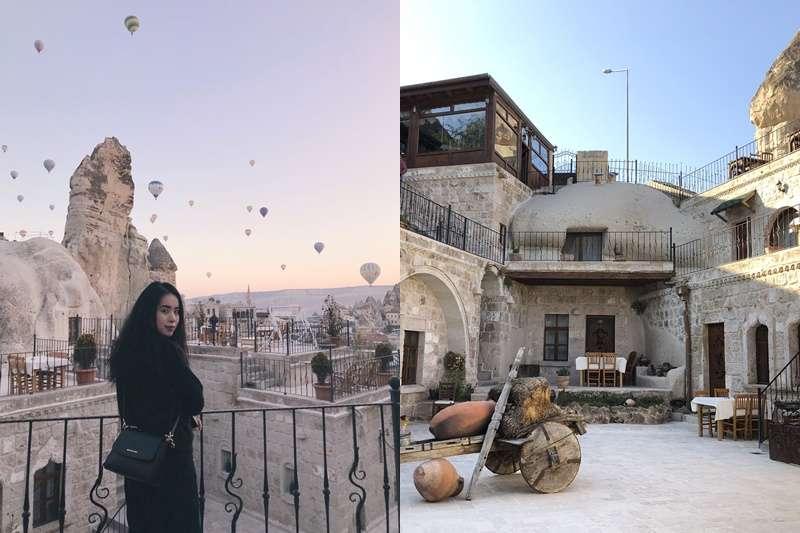 住在土耳其的台灣女孩萊拉,認為洞穴旅館一生必來一次!(合成圖/山岳文化提供)