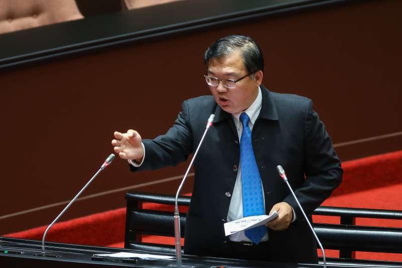 20201218-國民黨立委李德維18日於立院質詢。(顏麟宇攝)