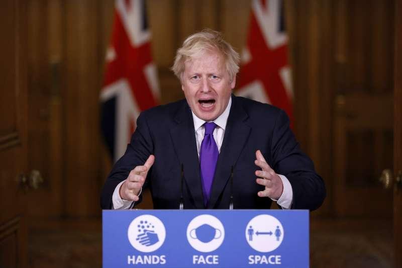 英國首相強森。(AP資料照)