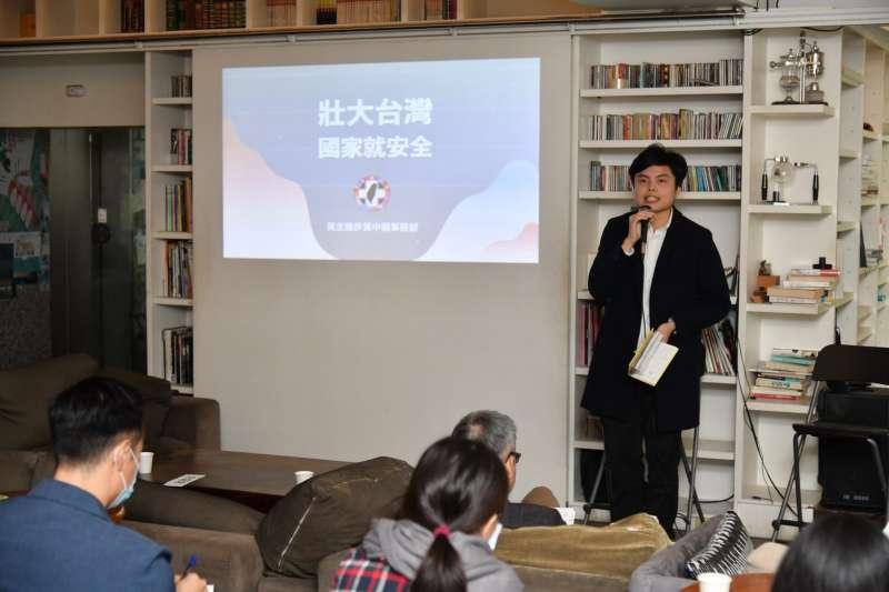 20201220-民進黨20日舉辦「壯大台灣,國家就安全」台南場次座談會。圖為台灣公民陣線秘書長江旻諺。(民進黨提供)