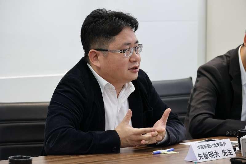 日本《產經新聞》台北支局長矢板明夫直言,台鐵一再發生同樣事故,代表基礎建設不扎實,政黨卻未痛定思痛地改革。(亞太青年協會提供)