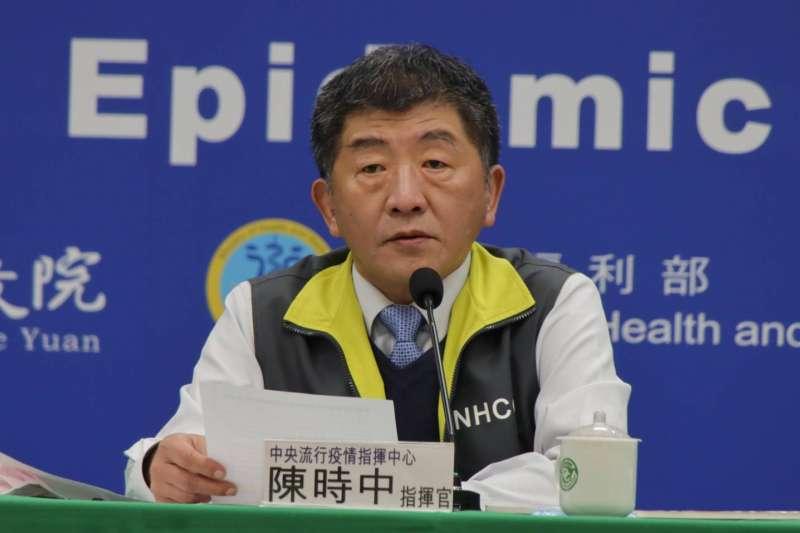 中央流行疫情指揮中心指揮官陳時中(見圖)宣布,國內26日新增1例新冠肺炎境外移入確診病例。(資料照,中央流行疫情指揮中心提供)