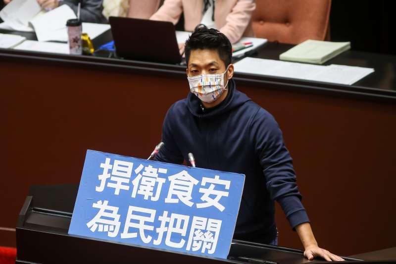20201224-國民黨立委蔣萬安24日於食品安全管理法修法時發言。(顏麟宇攝)