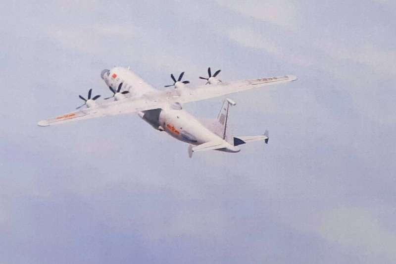 今日再有兩架共機侵擾我西南空域。圖為運-8技術偵察機。(空軍司令部提供)