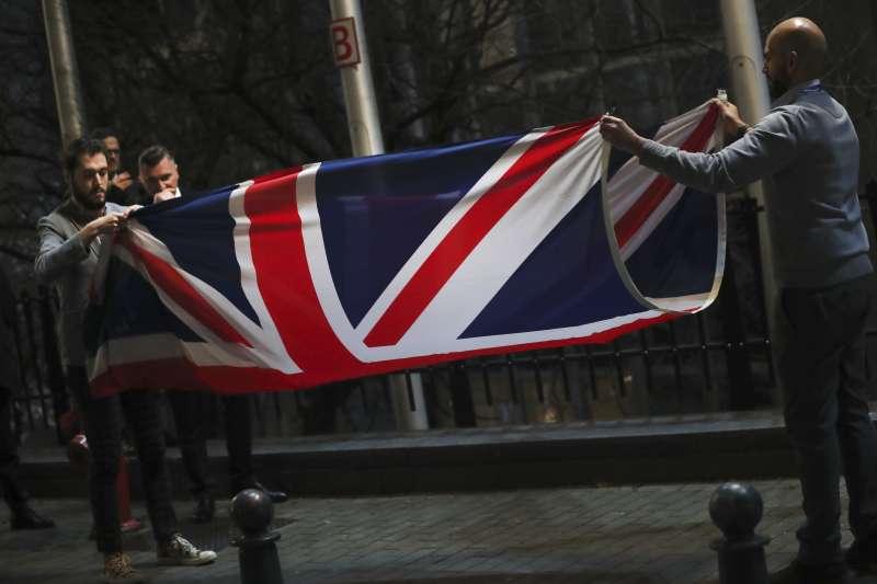 英國與歐盟談妥貿易協議,即將正式脫歐。英國脫歐。(AP)