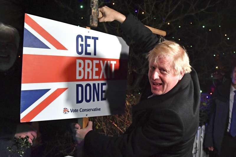 英國脫歐。2020年12月24日,英國首相強森(Boris Johnson)宣布英國與歐盟達成貿易協議。(資料照,美聯社)