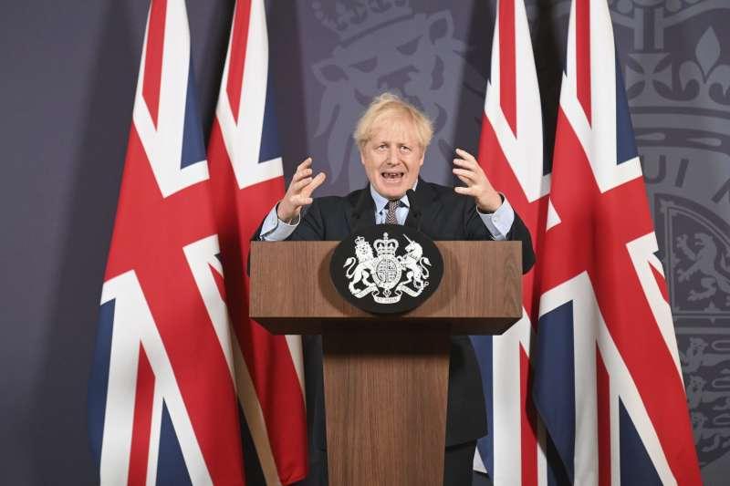 平安夜當天,英國首相強森(Boris Johnson)宣布英國與歐盟達成貿易協議(AP)