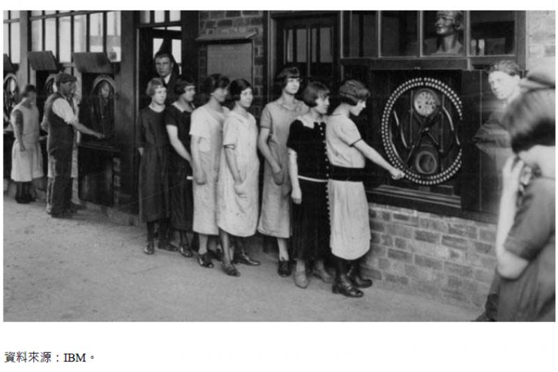 1930s IBM發明的「Daily Dial」考勤機 (圖/FINDIT)