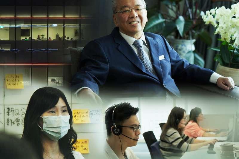 中信金控董事長顏文隆(上)於中國信託「如常‧謝謝你」品牌形象影片中娓娓道出對所有同仁支援防疫紓困貸款業務的感謝。(中國信託提供)