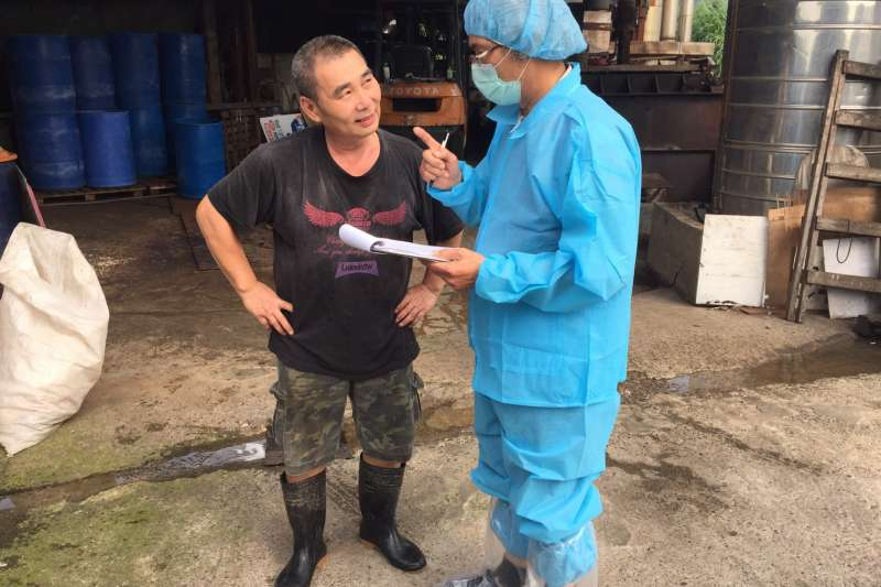動保處至新北市畜牧場稽查、輔導,守護台灣養豬產業也保障民眾食品衛生安全。(圖/新北市動保處提供)
