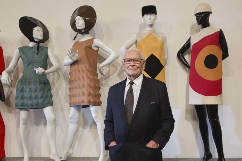 法國時裝設計大師皮爾卡登(Pierre Cardin),攝於2014年(AP)