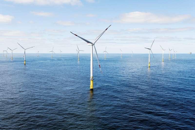 沃旭大彰化離岸風場獲國際及本地投資人青睞,沃旭表示將善用本次協議所挹注之資金,在台開發新的離岸風場。(圖為沃旭能源Borkum Riffgrund 離岸風場)。(沃旭能源提供)