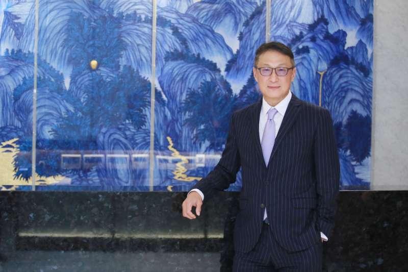 """中信金控行政長高人傑說:「金融機構的核心價值就像是""""be there"""",跟客戶和民眾共度難關。」(柯承惠攝)"""