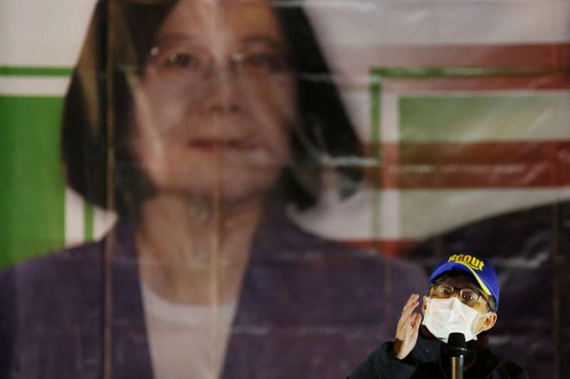 20201231-反瘦肉精聯盟31日舉辦「拒毒豬 凱道萊跨年」晚會,蘇偉碩醫師到場聲援。(柯承惠攝)