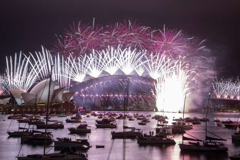 2021年元旦全球煙火秀,澳洲雪梨(AP)